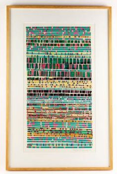 20th Century Decorative Arts & Modern: Susan Fortgang, untitled, cut and painted paper collage. EST: $200 - $400