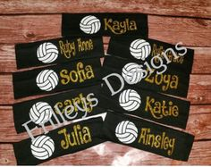 Headbands Volleyball Team Sports by FrilleysDesigns on Etsy (null) Volleyball Team Shirts, Volleyball Signs, Volleyball Crafts, Volleyball Mom, Volleyball Drills, Volleyball Quotes, Coaching Volleyball, Volleyball Party, Girls Basketball