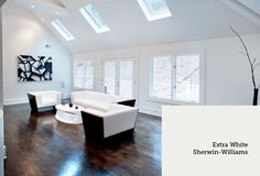 sherwin williams extra white white paints game room paint ideas paint. Black Bedroom Furniture Sets. Home Design Ideas