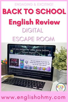 Are you looking for an engaging back to school activity for the first week of school for your middle school ELA students? Check out this ELA Digital Escape room, that has your students review figurative language, grammar, punctuation, literary devices, and homophones. This engaging ELA activity will have your students asking for more! |ELA Lessons | ELA Activities | Escape Rooms|