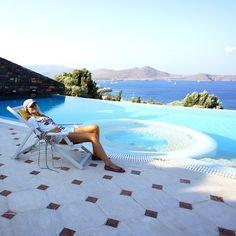 Sunbathing at Elounda Gulf Villas #Crete #Elounda #summer #holidays Photo credits @Emelie Johansson Johansson Ekman