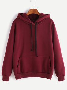 To find out about the Burgundy Hooded Long Sleeve Pockets Sweatshirt at SHEIN, part of our latest Sweatshirts ready to shop online today! Trendy Hoodies, Cute Sweatshirts, Damen Sweatshirts, Hooded Sweatshirts, Cute Comfy Outfits, Cool Outfits, Casual Outfits, Fashion Mode, Teen Fashion