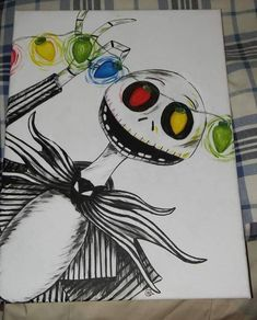 Nightmare before christmasYou can find Nightmare before christmas and more on our website.Nightmare before christmas Tim Burton Kunst, Tim Burton Art, Nightmare Before Christmas Drawings, Nightmare Before Christmas Decorations, Disney Kunst, Disney Art, Disney Drawings, Cool Drawings, Halloween Crafts