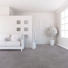 Known for its durability and sturdiness, this vinyl flooring has an eye-catching marble texture in a grey tone that will add a simple yet refined aura to your bedroom, living room, kitchen, bathroom, and even hallways. It has a high wear layer of 0.15mm and 2.30 mm thickness with an R10 rating for slip resistance. It is available in 2m, 3m and 4m roll widths. Tile Effect Vinyl Flooring, Vinyl Flooring Uk, Flooring Store, Carpet Flooring, Stone Flooring, Contemporary Design, Modern Design, Grey Tiles, Marble Texture