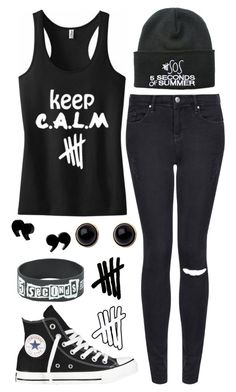 """""""READ THE D"""" by alex-bows ❤ liked on Polyvore featuring Topshop, Converse and Adele Marie"""