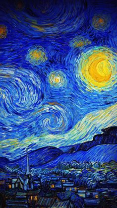 The latest iPhone11, iPhone11 Pro, iPhone 11 Pro Max mobile phone HD wallpapers free download, van gogh, starry night, night, paint, painting