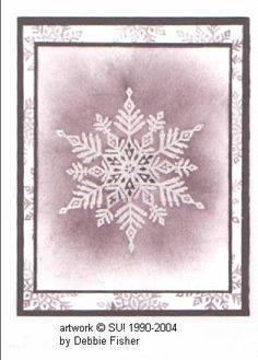 Splitcoaststampers FOOGallery - Snowflakes in plum Pink Christmas, All Things Christmas, Christmas And New Year, Handmade Christmas, Christmas Ideas, Christmas Cards, Snowflake Cards, Paper Snowflakes, Snow Flakes
