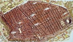 An accurate view of ancient Pompeii before it was destroyed by an eruption in AD 79