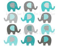 elefantes de clip art chevron lunares elefante clipart por huetoo