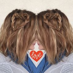 LOVE IS IN THE HAIR - how cute is this heart shaped braid for Valentine's Day?! at hairbyhal.com