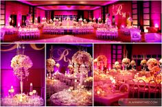 Beautiful wedding at the JW Marriot Marquis in Miami, Florida Flowers and décor by Avant Gardens Miami