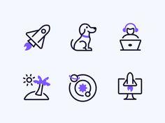 Mesosphere Duotone Icons duotone line icons rocket launch development analytics spaceship rocket space Spaceship Art, Spaceship Design, Design Ios, Icon Design, Flat Design, Design Thinking, Person Icon, Banks Icon, Website Layout
