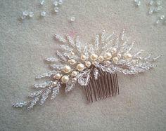 Bridal Hair Comb | Bridal Hair Accessories | Wedding Hair Comb | Bridal Headpiece | Bridal Hair Accessory | Pearl Hair Comb