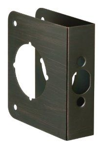 First Watch Security Reinforcer Strike Plate by First Watch Security. $9.59. Size:4 1/2' x 4', Door Thickness:1 3/8', Backset:2 3/8', Finish:Vintage Bronze Door Reinforcer   Repairs damaged doors  Assists in preventing forced entry
