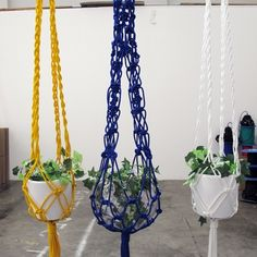 Smalltown creates bespoke macramé pot hangings, lights and commissioned works for a variety of private and commercial clients. All pieces are all hand crafted with care in Melbourne. Macrame Plant Holder, Macrame Plant Hangers, Plant Holders, Macrame Tutorial, Hanging Planters, Artisanal, Decorative Items, Wind Chimes, Diy And Crafts