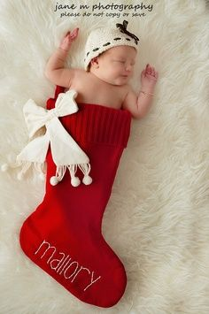new baby in stocking