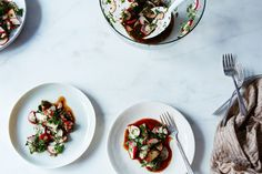 This radish and herb salad, from Engin Akin's new cookbook Essential Turkish Cuisine, has no fat of any kind—and involves no sacrifice, no straining to compensate.