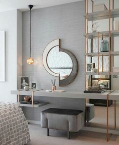 Incredible Art Deco Design You Can Try To Display Exhibits Incredible Art Deco Design You Can Try To Display Exhibits - Mobilier de Salon Gray Bedroom, Trendy Bedroom, Modern Bedroom, Bedroom Wall, Bedroom Furniture, Furniture Design, Master Bedrooms, Bedroom Decor, Bedroom Ideas