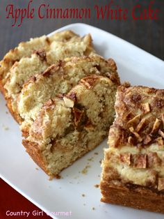 A simple and delicious Apple Cinnamon White Cake that is sure to become a family favorite! #fallbaking
