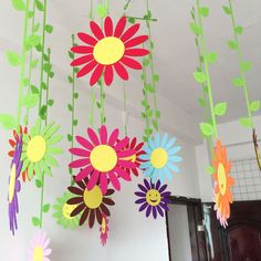 Handmade Cloth Sun Flower Wall Hanging Home Childs Room Garden Ball Decorations