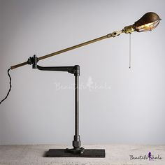 Brilliant Design Gourd Shaped Industrial Retro Floor Lamp with Swing Arm
