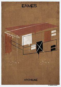 federico babina simplifies iconic architectural styles into their most elemental form