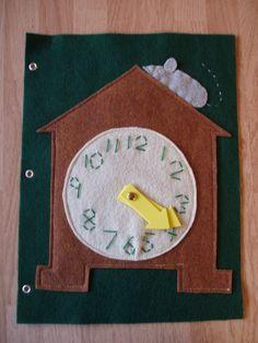 Clock  Felt Quiet Book Page