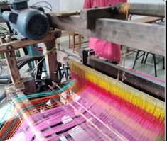 Primary & secondary motion Loom Machine, Electric Power, Loom Weaving, Power Loom, Loom, Weaving, Knitting Looms, Loom Knitting