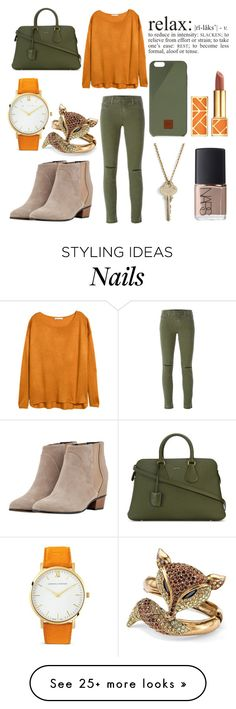 """""""Just Relax"""" by marin-marine on Polyvore featuring J Brand, Tory Burch, Bally, The Giving Keys, Augusta, NARS Cosmetics, Palm Beach Jewelry, Native Union and Larsson & Jennings"""