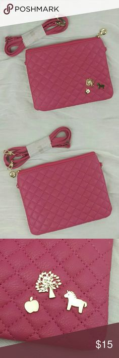 Lovely hot pink shoulder bag New without tags. 8 x 6 inch, with adjustable strap 28 ~50 inch! Cute hot pink! Bags Shoulder Bags