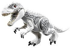 Large Indominus T-Rex Jurassic World Dinosaur Lego Minifigure Raptor Toys Set BP Jurassic World Indominus Rex, Jurassic World Dinosaurs, Jurassic Park World, Raptor Toys, Dragon Ball, Largest Dinosaur, Lego Animals, Star Wars Minifigures, Lego Minifigure