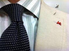 Sam Hober Tie: White On Midnight Blue Pin Dot Grenadine Tie 1 www.samhober.com/grenadine-grossa-pin-dot-silk-ties/