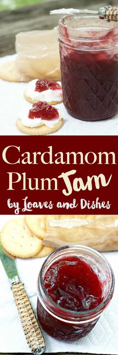 This easy recipe for jam is delicious adding Indian spices with tart jam. Fast and perfect use for summer plums