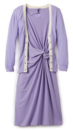 Easy style...Violet Twist Front with Matching Cardigan from THELIMITED.com