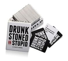 Drunk, Stoned, Or Stupid is a party game for you and your stupid friends, in which you decide who is most likely to do the stupid things on the cards. Fun Board Games, Fun Games, Party Games, Stupid Friends, You Stupid, Original Gifts, Drinking Games, Get The Party Started, Bridal Shower Games