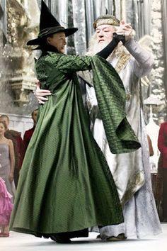 WallPotter: Alvo Dumbledore e Minerva Mcgonagall dançando/ Alb...