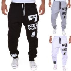 3ccac8a2023d Mens Gym Loose Sports Letters Printing Joggers Harem Outdoor Pants