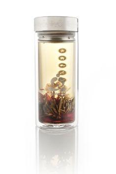 Teavana glass tea tumbler with infuser