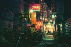 Les rues de Tokyo de nuit - Photo : Masashi Wakui - #grainedephotographe #blog