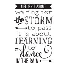 life ins't about waiting for the storm to pass it's about learning to dance in…