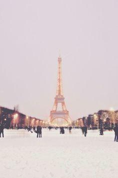 Paris in snow.