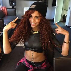 """Natalie La Rose ft. Jeremih """"Somebody"""" Great curly hair style! <3"""
