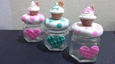 frascos decorados porcelana fria