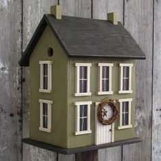 Primitive Birdhouse Saltbox Best Seller by DoorCountyWoodworks