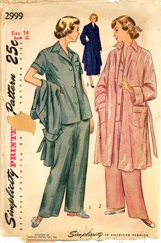 40s Pajamas Housecoat