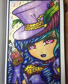 Artist: Hannah Lynn Colourist: Rebecca Edwards  Clara from Hannah Lynn's Enchanted Faces Book  #enchantedfaces #hannahlynn #hannahlynnart #colouring #coloring #adultcolouring #adultcolouring #coloringbookforadults #spectrumnoir #zigcleancolour #whimsy #whimsical #gelpens #marcoraffine #marcoraffinepencils #pencils #art #colourist #derwentcoloursoftpencils #clara #followforfollow