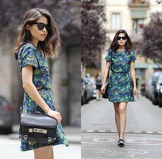 Adriana Gastélum - Céline Audrey Sunglasses, Ninth Collective Dress, Proenza Schouler Ps11 Bag - That's One Bold Statement Dress