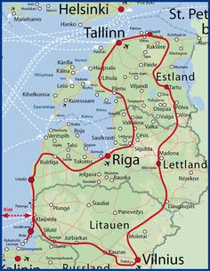 Ihre Reiseroute für 16 Tage Das Baltikum Kulinarisch Entdecken