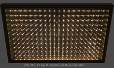 Infinity Mirror Displays and Infinity Mirror Tables Mirror Panels, Mirrors, Infinity Mirror Table, Mirror With Lights, Wall Lights, Infinite Mirror, Infinity Lights, Two Way Mirror, Convex Mirror