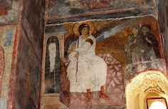 Freska Beli Andjeo - Fresco Painting: The White Angel - from the XIII century -, one of the most famous fresco painting in Monastery Mileseva, Serbia Fresco, Angel Warrior, Famous Artwork, White Angel, Archangel Michael, Orthodox Icons, Serbian, Christian Art, Religious Art